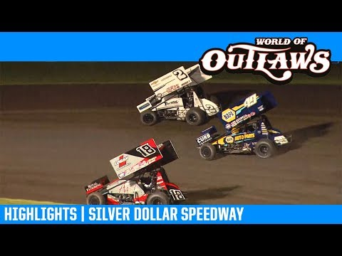 World of Outlaws NOS Energy Drink Sprint Cars Silver Dollar Speedway March 15, 2019 | HIGHLIGHTS