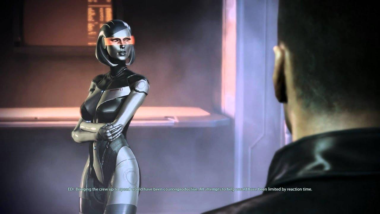 3d Hologram Effect Wallpaper Mass Effect 3 Edi New Body Youtube