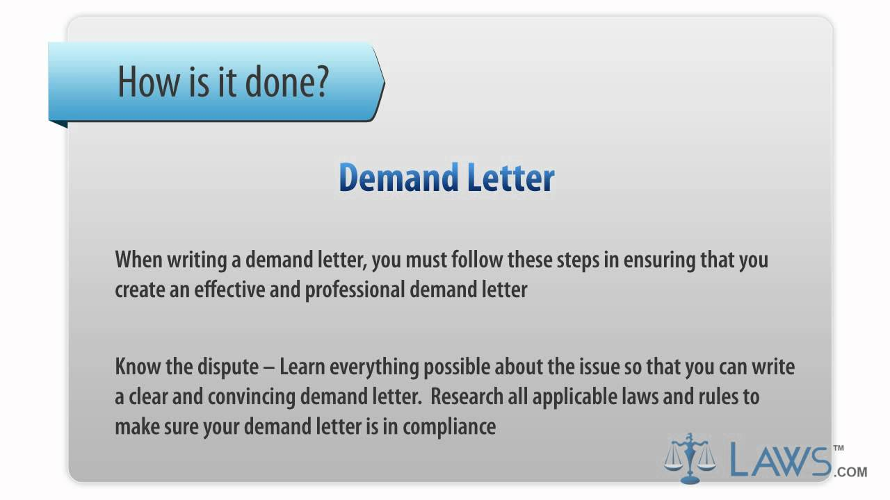 Learn How to Fill the Demand Letter form