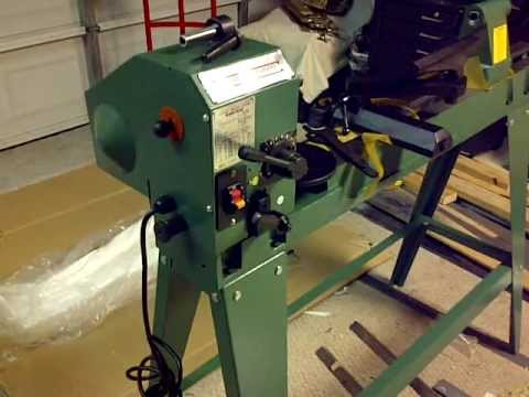 12 X 33 3 8 Wood Lathe With Reversible Head 01 Youtube