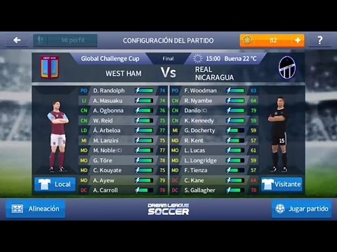 DLS Final WEST HAM Vs Real Nicaragua Gloval Challengue Cup