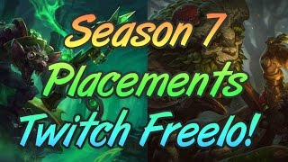 Twitch Freelo Time! | Season 7 Placement Games | Potential Road To Diamond Series?