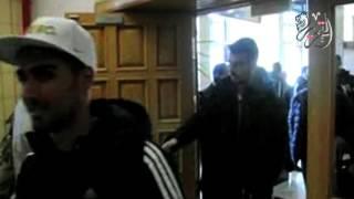 بالصور والفيديو.. «زفة نوبي» في استقبال بعثة المنتخب الليبي بمطار أسوان