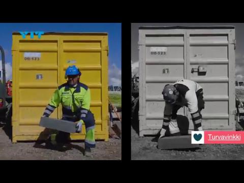 YIT   työturvallisuus   työasennot