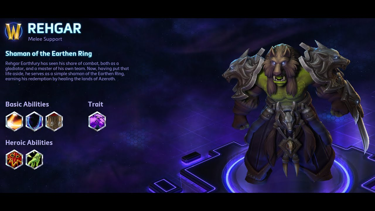 Heroes Of The Storm Rehgar Guide Getrekt Tv Game Center Now, having put that life aside, he serves as a simple shaman of the earthen ring, earning his. getrekt tv