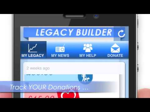 the legacy builder contactless donation point and track your