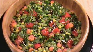 Edamame (soy Bean) Salad -- Quick & Easy Vegetarian Cuisine  By Chinese Home Cooking Weeknight Show