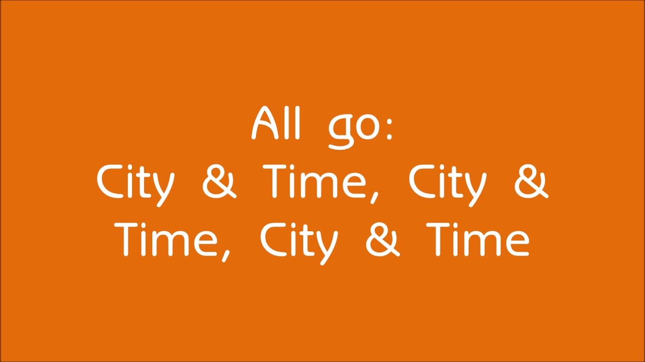 City & Time (Lyric Video)