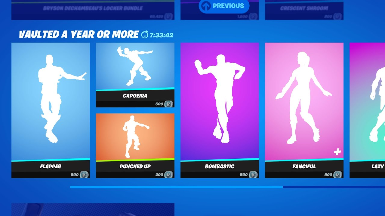 10 ITEMSHOP EMOTES coming to SHOP VAULT in Fortnite (Flapper, Lazy Shuffle...)