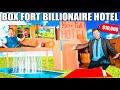BOX FORT BILLIONAIRE HOTEL $10,000 ROOM CHALLENGE! Box Fort City Survival