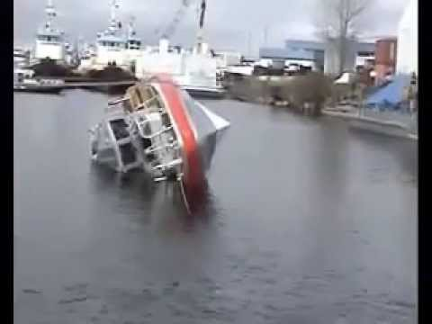 Coast Guard Response Boat Self Righting Test!