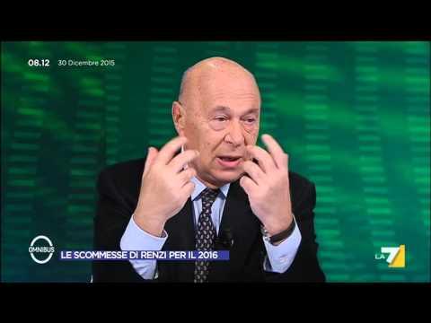 Omnibus - Le scommesse di Renzi per il 2016 (Puntata 30/12/2015)