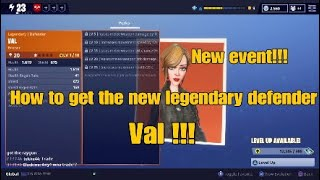 FortNite - Nouvel événement!!! Débuts courageux!!! Comment obtenir le nouveau légendaire défenseur Val !!!
