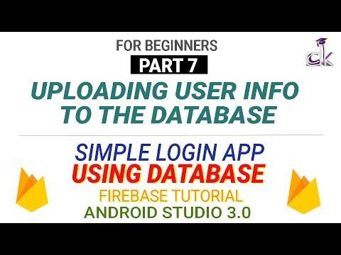 Simple Login App Using Database (PART 7) - Uploading User Info To Database (Android Studio 3.0)