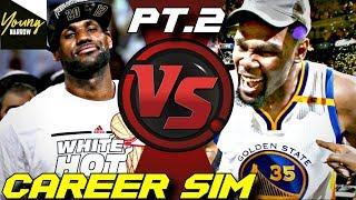 SIMULATING LEBRON JAMES VS. KEVIN DURANT'S NBA CAREERS ON NBA 2K18!! PART 2! #Careersimvs