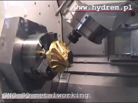 hydrem cnc 5axis impeller youtube