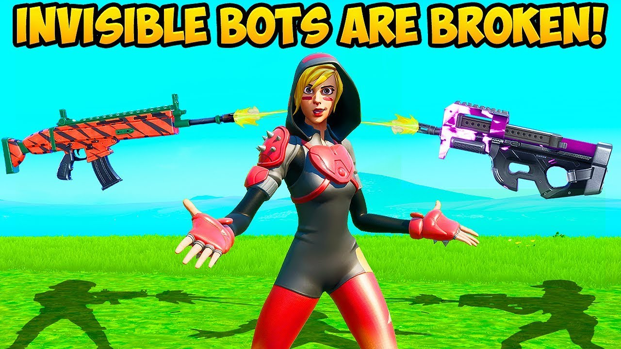 *WTF* BOTS ARE INVISIBLE NOW?! - Fortnite Funny Fails and WTF Moments! #812 thumbnail