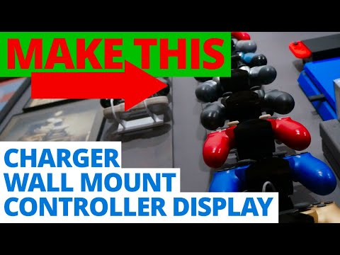 DIY Video Game Controller Wall Mount and Charging Station
