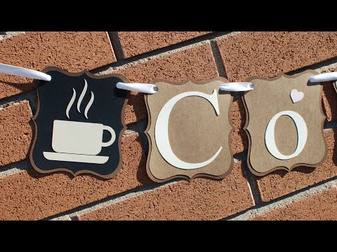 HOW TO DIY DECORATIVE COFFEE PAPER BANNER - KITCHEN DECOR DECORATING IDEAS! COFFEE TO GO