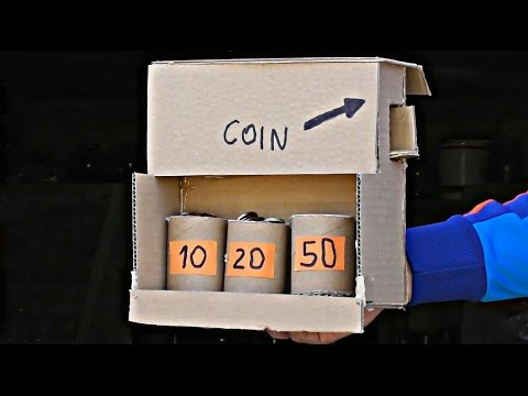 DIY Make Coin Sorting Piggy Bank