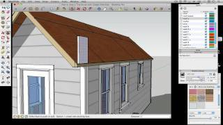 How To Draw A Tiny House With Google Sketchup - Part 5