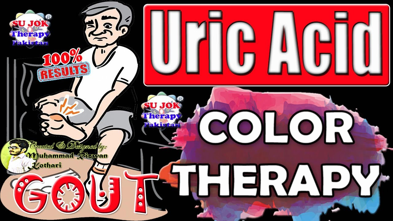 Uric Acid (Gout) Easy Treatment by Color Therapy| Holistic Healing| Sujok Acupressure & Acupuncture.