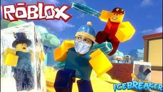 В ROBLOX тает лед Меня заморозили в РОБЛОКС приключения мульт героя Видео для детей KIDS CHILDREN