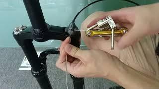 神叉线控器安装SUNTOUR EPXION suspension front fork remote lock controller installation