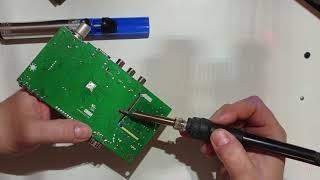 Фото Не работает DVB тюнер. Высохли все конденсаторы. Не включается тюнер для телевизора