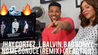 Jhay Cortez, J. Balvin, Bad Bunny - No Me Conoce (Remix)  (reaction)