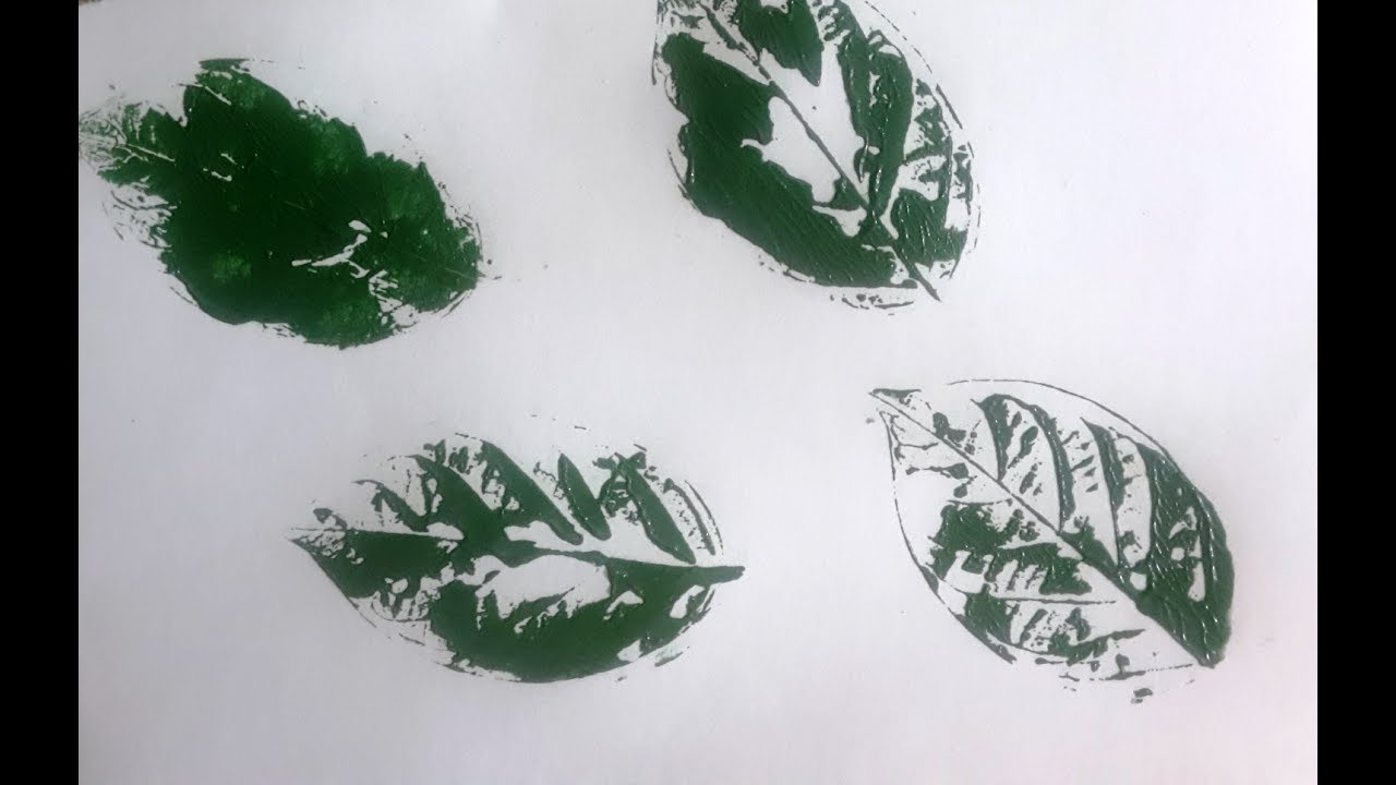 Leaf Print Technique for Kids | Easy Simple Leaf Printing for Children
