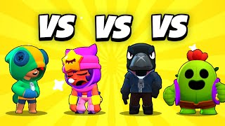 🏆Bester LEGENDÄRER Brawler? | SANDY vs LEON vs CROW vs SPIKE | Brawl Stars deutsch