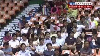 乒乓球]2013年亚洲乒乓球锦标赛 男团决赛 樊振东(中国)VS岸川圣也(日本)
