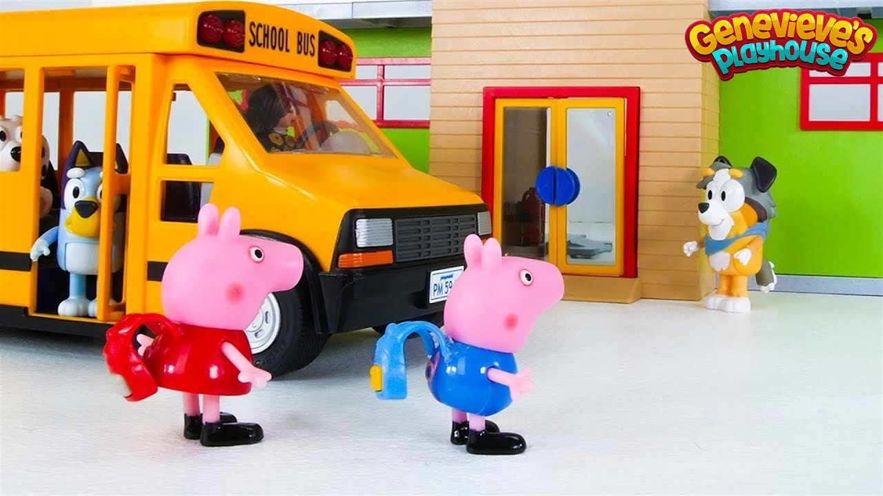 Peppa Pig and Bluey Go to School!