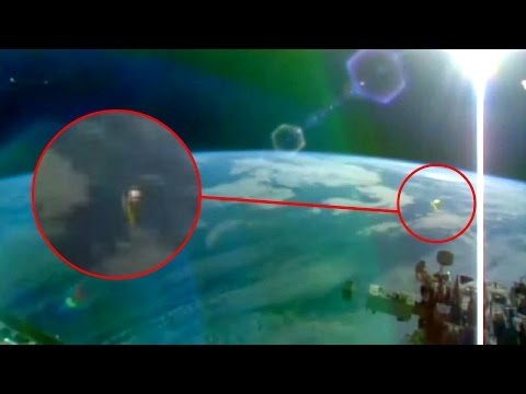 UFOs 2 object's sighting Appear Close To ISS Space Station HD video,Nasa Cuts live Feed