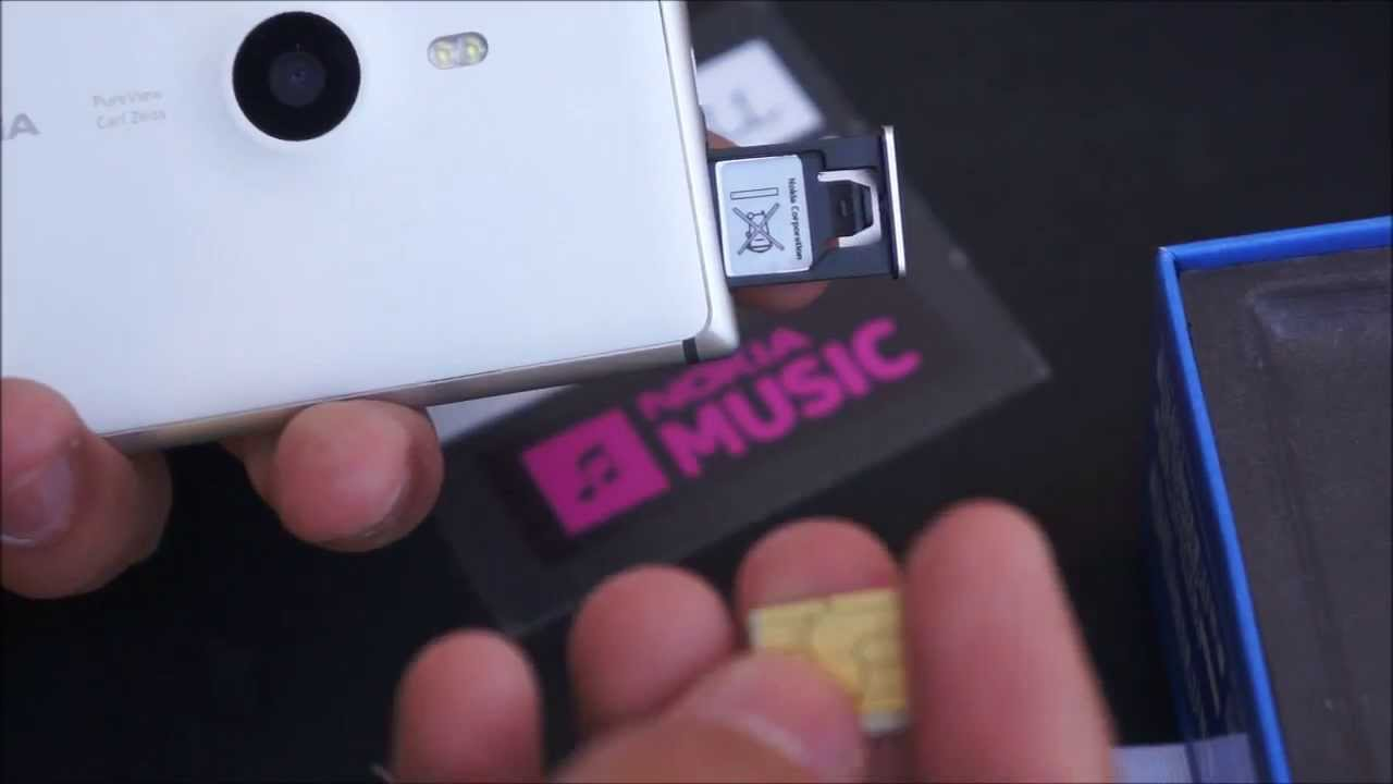how to insert micro sim into the nokia lumia 925 youtube. Black Bedroom Furniture Sets. Home Design Ideas