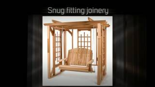 All Things Cedar Pergola 4ft. Red Cedar Swing Set - P072s