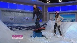 Bethenny's Snowboarding Lesson with Bronze Medalist Kelly Clark