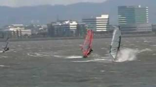 Windsurfing Candlestick Point 6/2/08 San Francisco Bay
