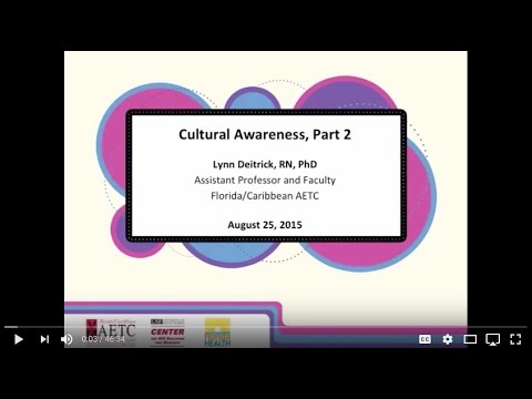 Cultural Awareness, Part 2