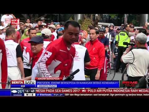 Jokowi Bersepeda dari Istana Negara ke Lapangan Park and Ride Sarinah