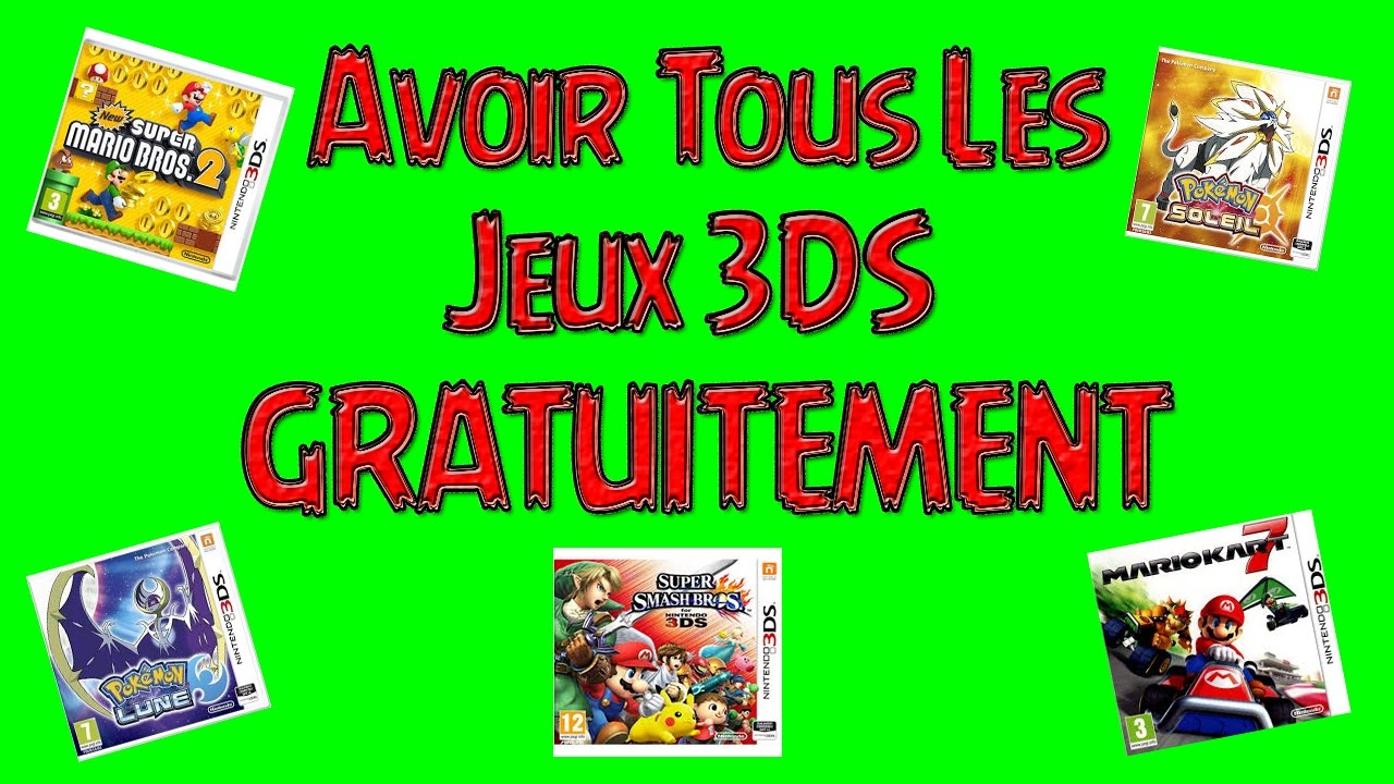 tuto comment avoir tous les jeux 3ds gratuitements youtube. Black Bedroom Furniture Sets. Home Design Ideas