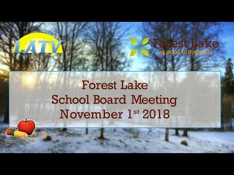Forest Lake School Board - Nov 1st 2018