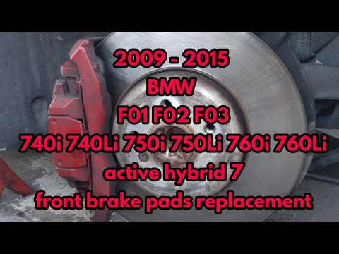 2009 2015 Bmw F01 F02 Front Brake Pads Replacement 740i