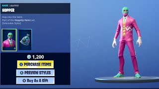 'NEW' Hopper Skin et Pastel Print Camo à Fortnite!