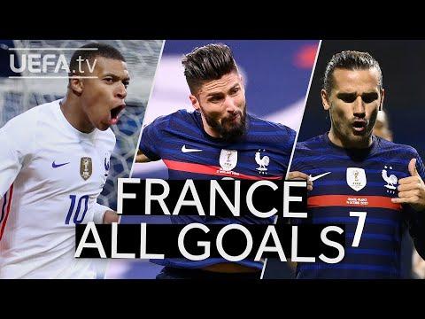 MBAPPÉ, GIROUD, GRIEZMANN: FRANCE 2020/21 #UNL All Goals to reach the final!!