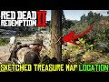 Red Dead Redemption 2 - SKETCHED TREASURE MAP LOCATION