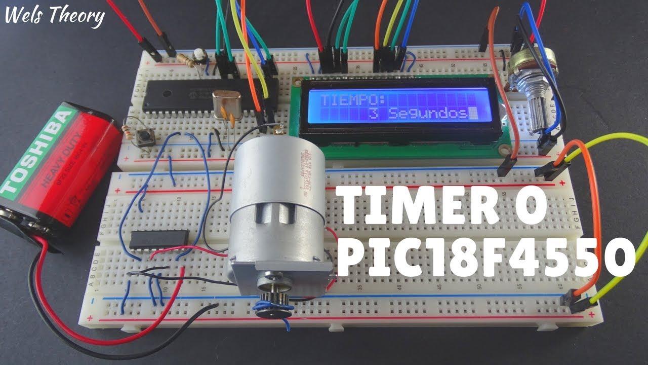 Como hacer un temporizador con el Timer0 PIC18F4550 - Wels Theory