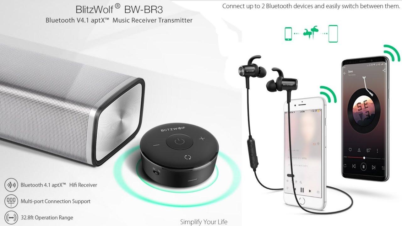 BlitzWolf BTS1. BW-BR3 receiver Беспроводные наушники и ресивер 2/1 из Китая. Конкурс