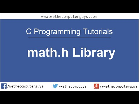 C Programming Language Tutorial-Lect 10 math.h library